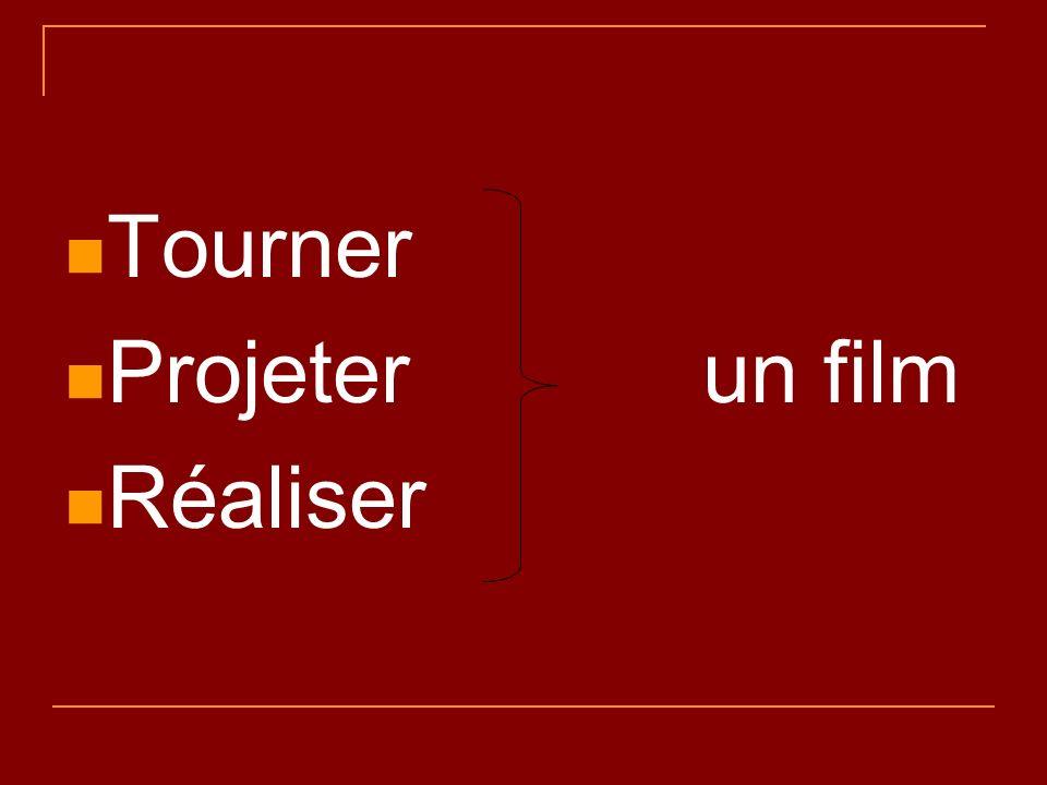 Tourner Projeter un film Réaliser