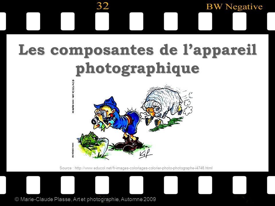 © Marie-Claude Plasse, Art et photographie, Automne 2009 Les composantes de lappareil photographique Source : http://www.educol.net/fr-images-coloriag