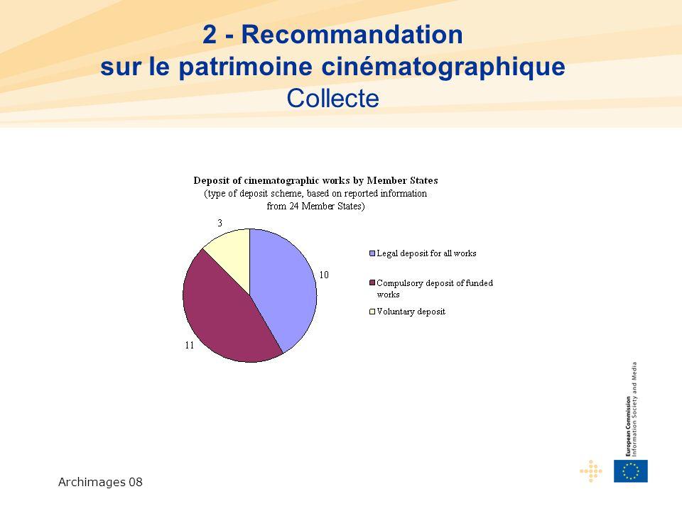 Archimages 08 2 - Recommandation sur le patrimoine cinématographique Collecte