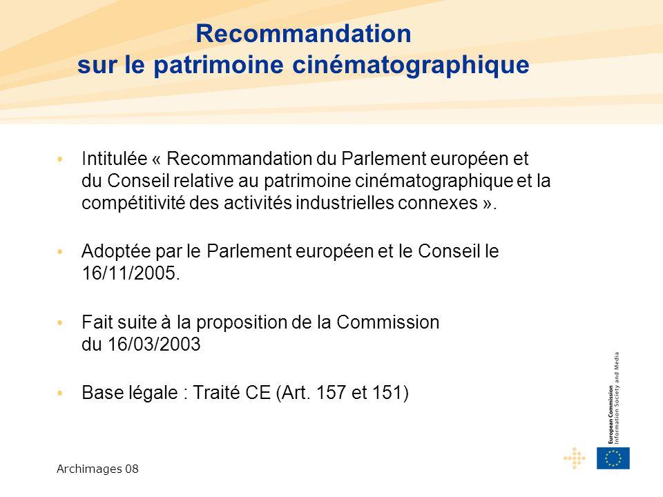 Archimages 08 Article 157 : Politique industrielle L Union et les États membres veillent à ce que les conditions nécessaires à la compétitivité de l industrie de l Union soient assurées.