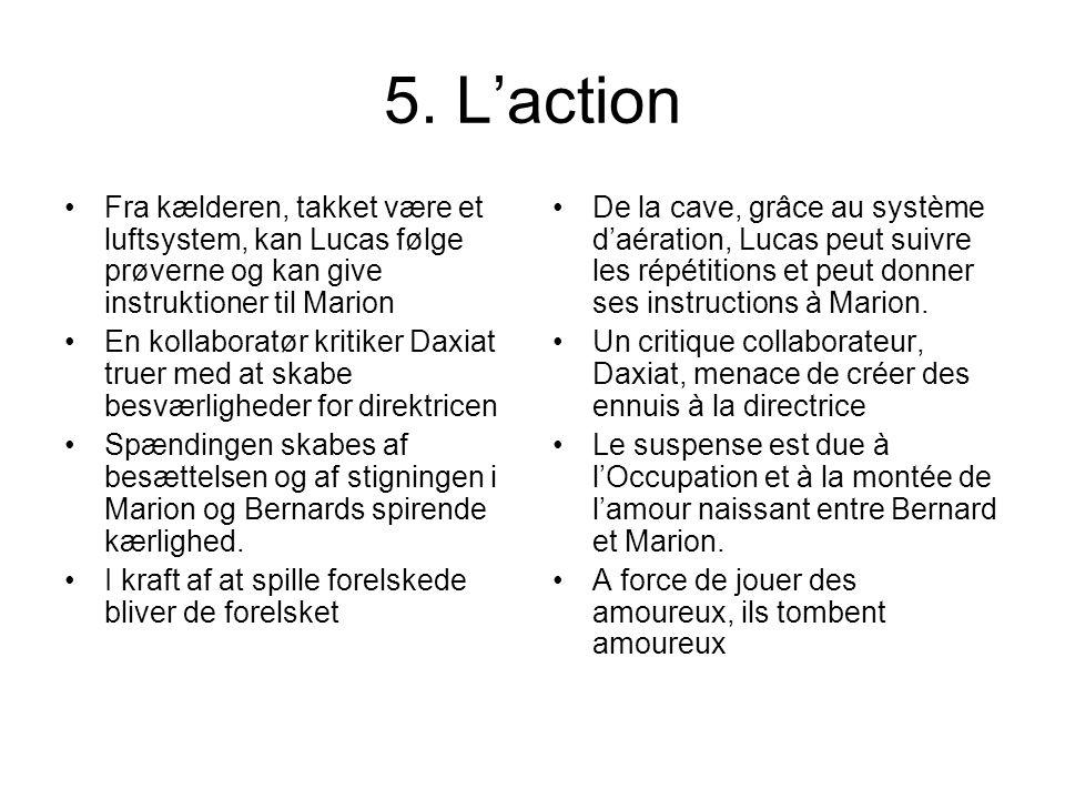 5. Laction Fra kælderen, takket være et luftsystem, kan Lucas følge prøverne og kan give instruktioner til Marion En kollaboratør kritiker Daxiat true
