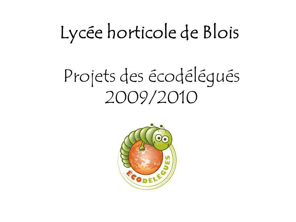 Lycée horticole de Blois Projets des écodélégués 2009/2010