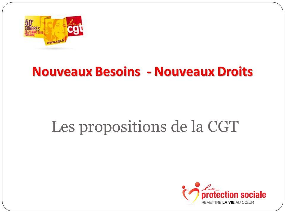Nouveaux Besoins - Nouveaux Droits Les propositions de la CGT