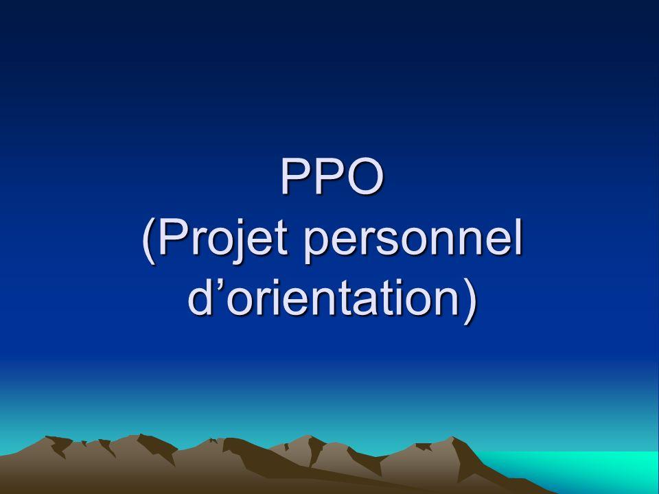 PPO (Projet personnel dorientation)