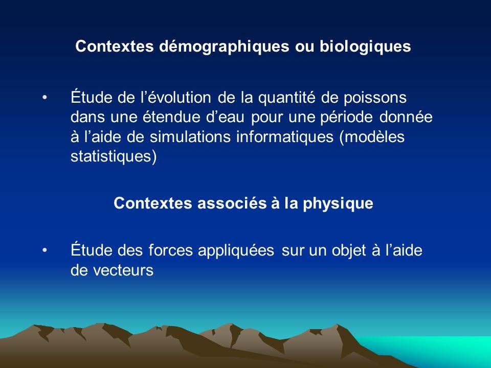 Contextes démographiques ou biologiques Étude de lévolution de la quantité de poissons dans une étendue deau pour une période donnée à laide de simula