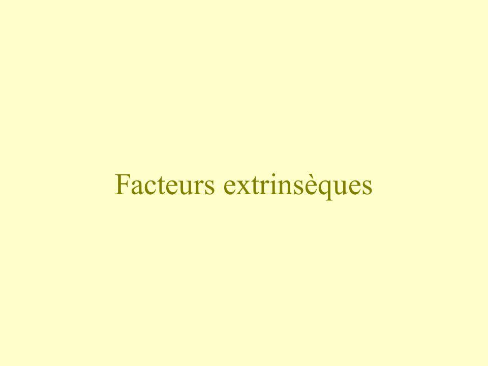 Facteurs extrinsèques