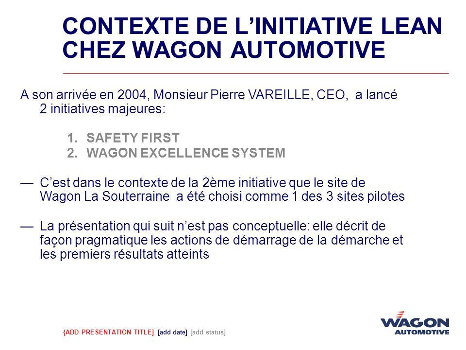 {ADD PRESENTATION TITLE] [add date] [add status] A son arrivée en 2004, Monsieur Pierre VAREILLE, CEO, a lancé 2 initiatives majeures: 1.SAFETY FIRST