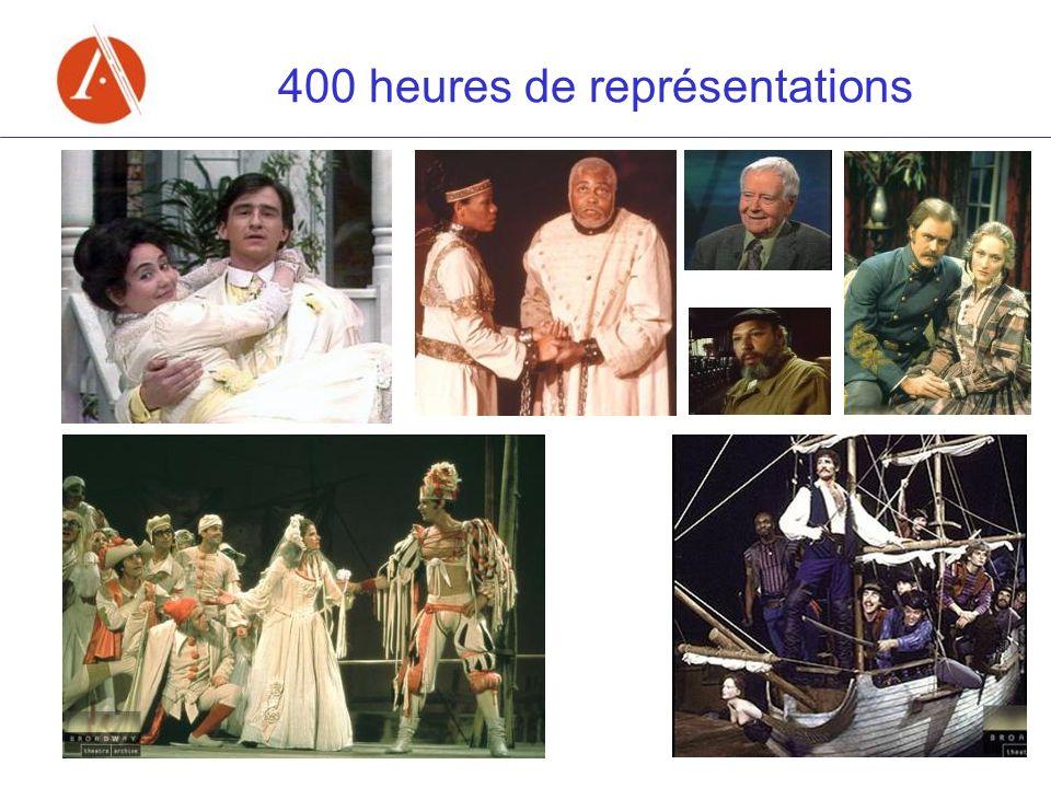 400 heures de représentations