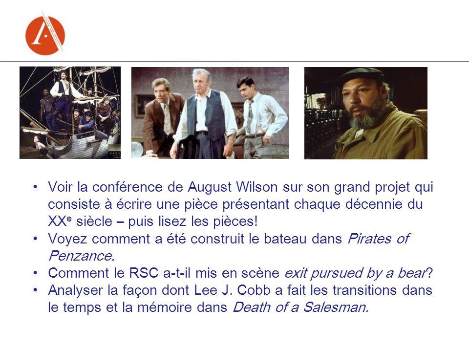Voir la conférence de August Wilson sur son grand projet qui consiste à écrire une pièce présentant chaque décennie du XX e siècle – puis lisez les pi