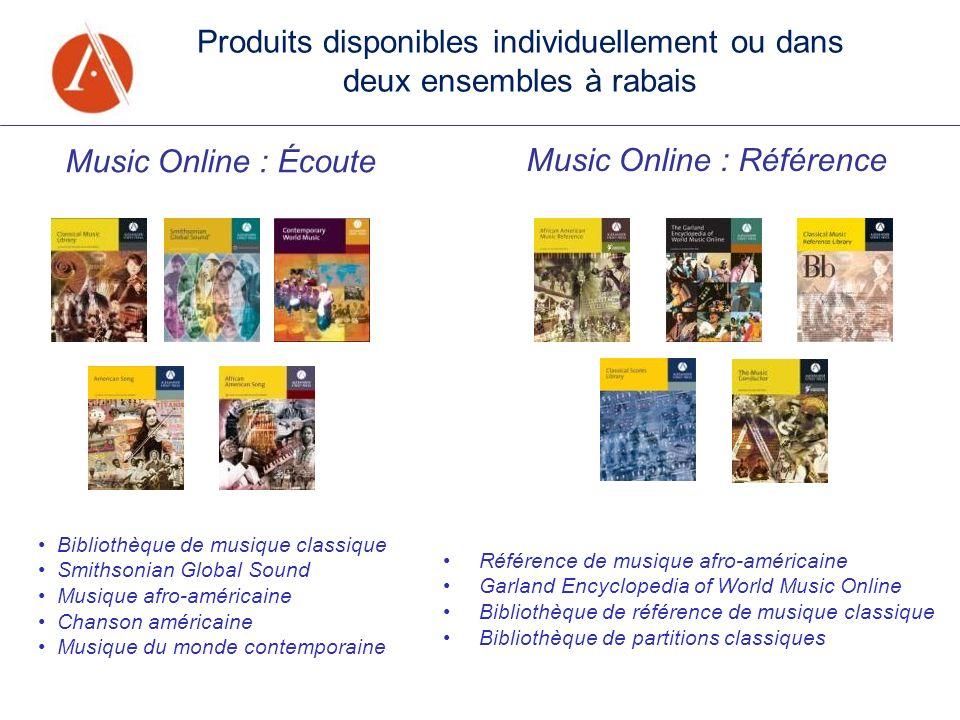 Music Online : Écoute Music Online : Référence Bibliothèque de musique classique Smithsonian Global Sound Musique afro-américaine Chanson américaine M