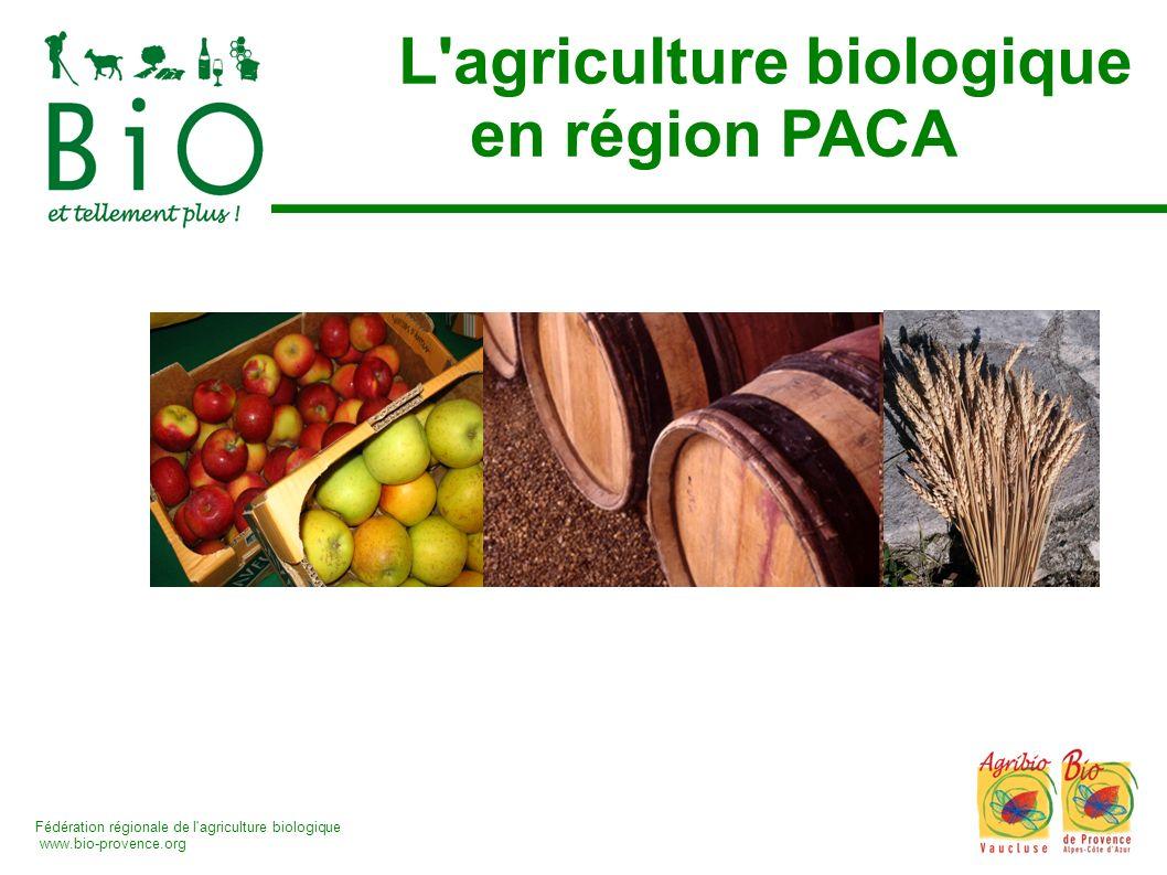 Fédération régionale de l'agriculture biologique www.bio-provence.org L'agriculture biologique en région PACA