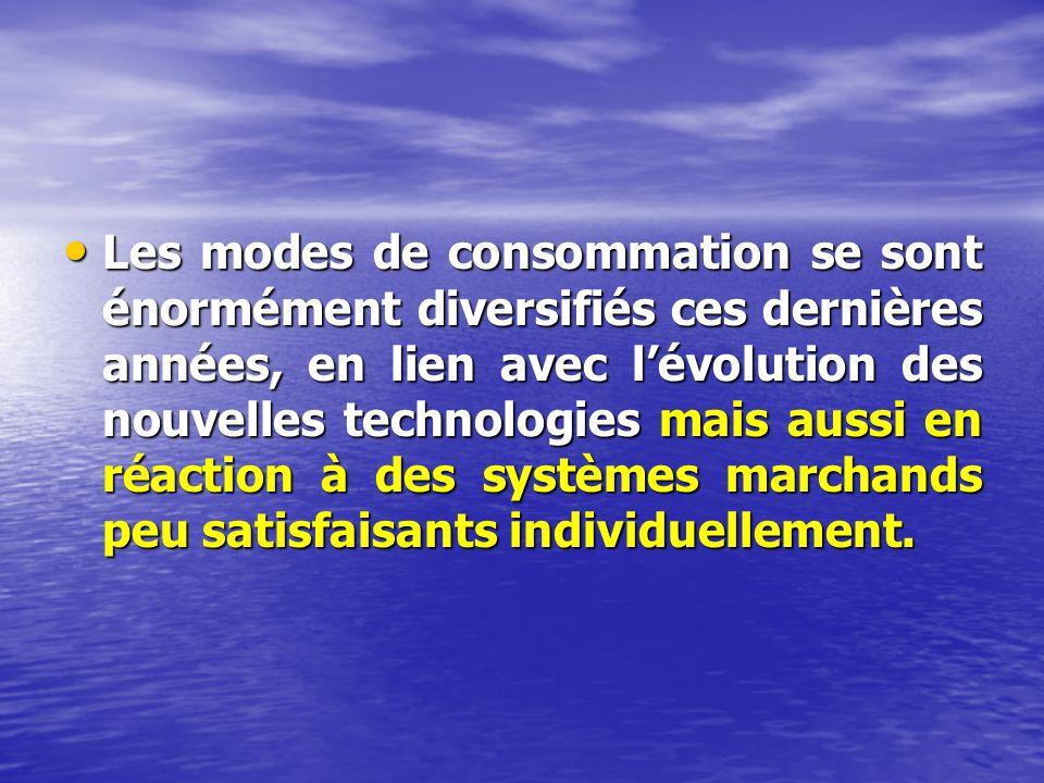 Les modes de consommation se sont énormément diversifiés ces dernières années, en lien avec lévolution des nouvelles technologies mais aussi en réaction à des systèmes marchands peu satisfaisants individuellement.