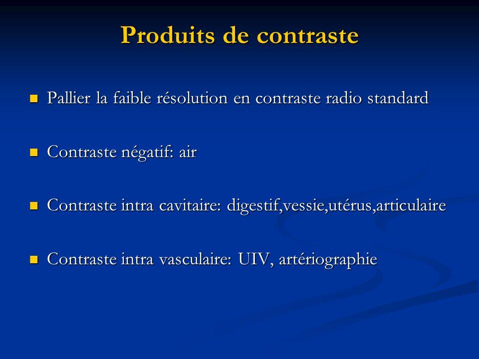 Produits de contraste Pallier la faible résolution en contraste radio standard Pallier la faible résolution en contraste radio standard Contraste néga