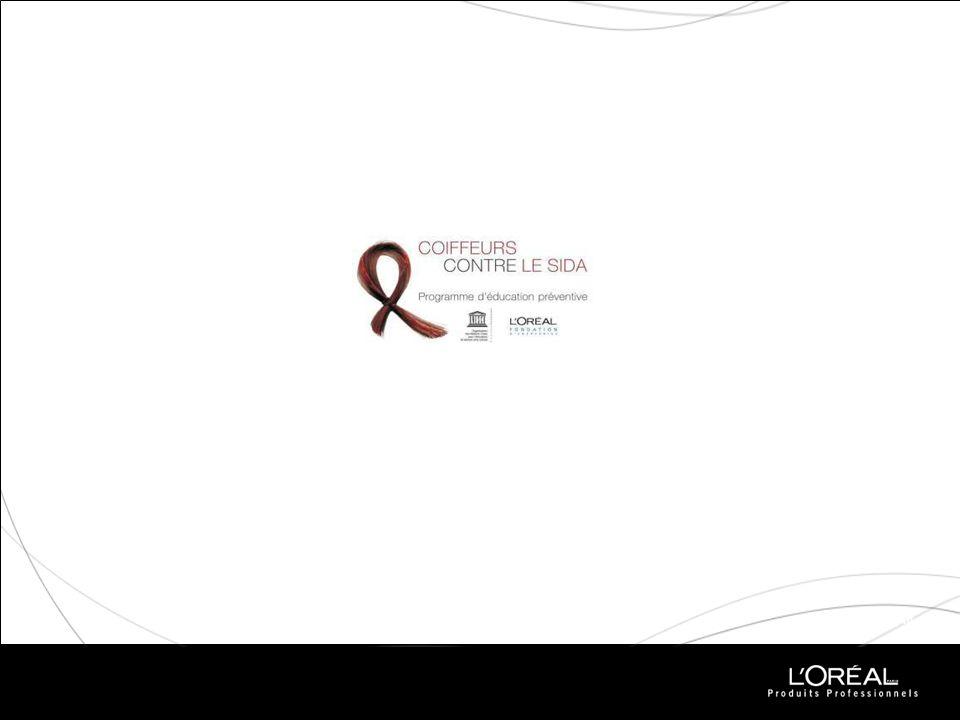 COIFFEURS CONTRE LE SIDA Le projet LOréal 2002 : Lancement en Afrique du Sud à linitiative de LOréal dun programme déducation et de prévention contre le SIDA, sous la tutelle de Lady Cristina Owen-Jones, Ambassadeur de bonne volonté de lUnesco pour le VIH/Sida.