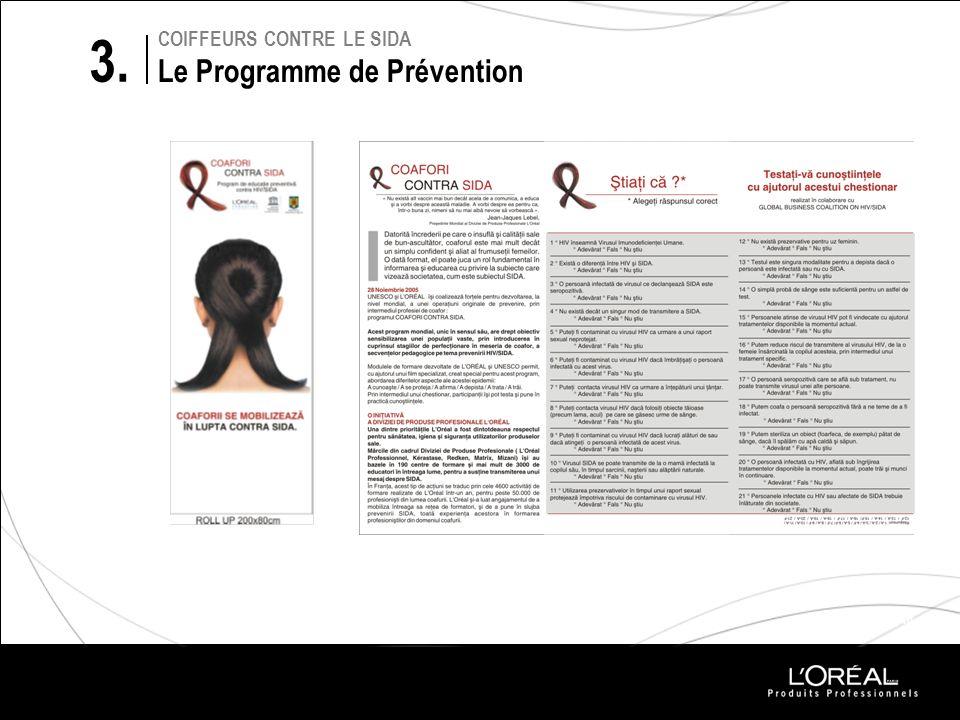 PROJETS 2010 COIFFEURS CONTRE LE SIDA Le Programme de Prévention 3.