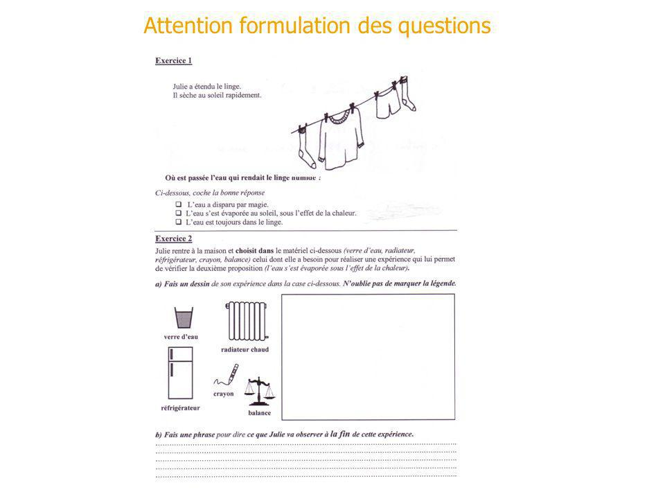 Edith Saltiel, 30 mai 2007 Attention formulation des questions