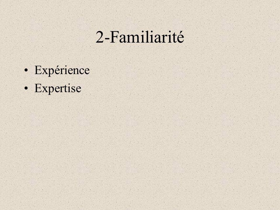 2-Familiarité Expérience Expertise