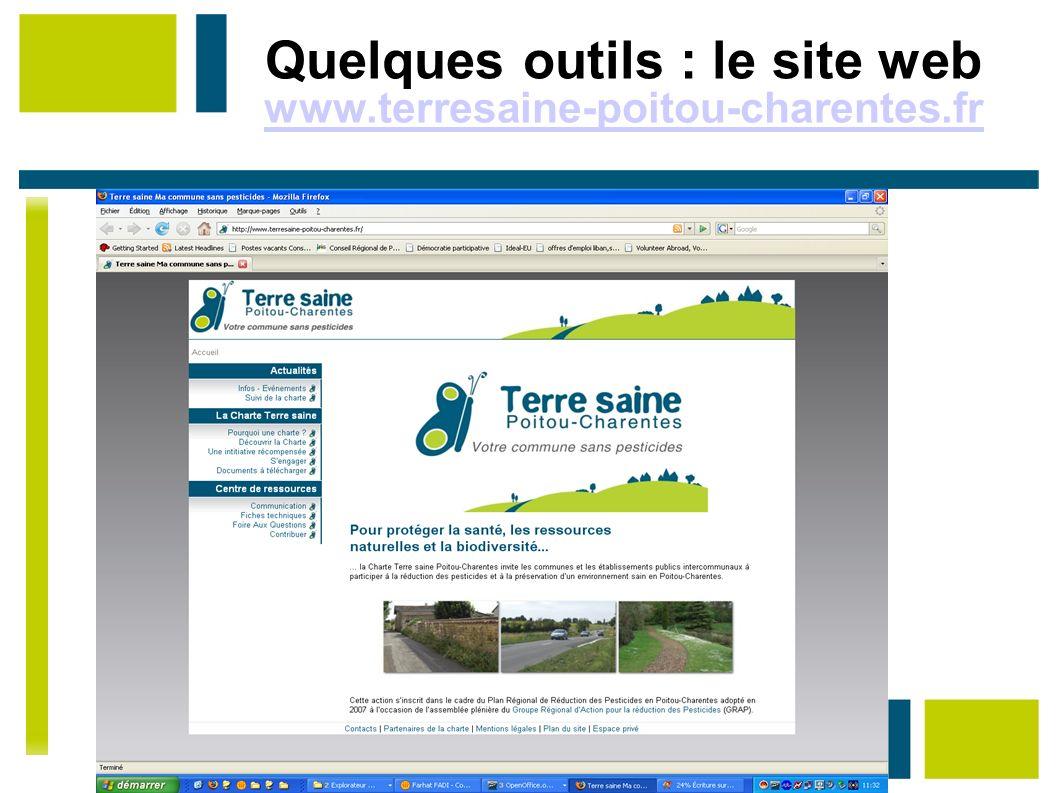Quelques outils : le site web www.terresaine-poitou-charentes.fr www.terresaine-poitou-charentes.fr