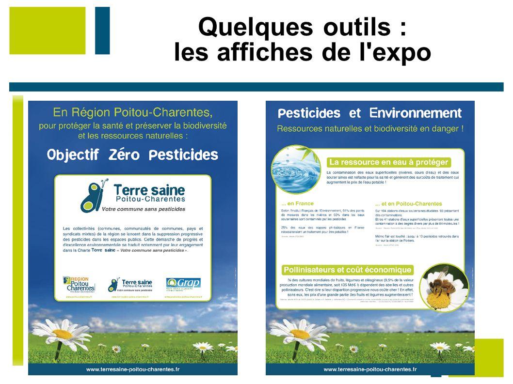 Quelques outils : les affiches de l'expo