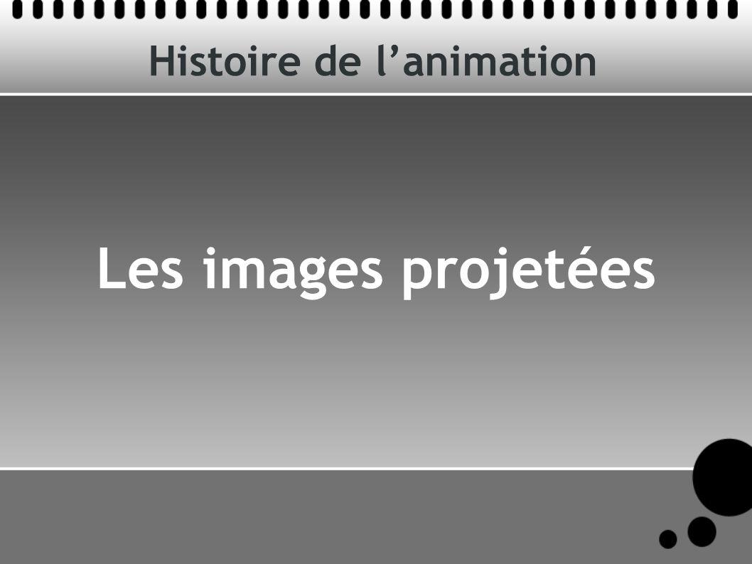 Histoire de lanimation Les images projetées