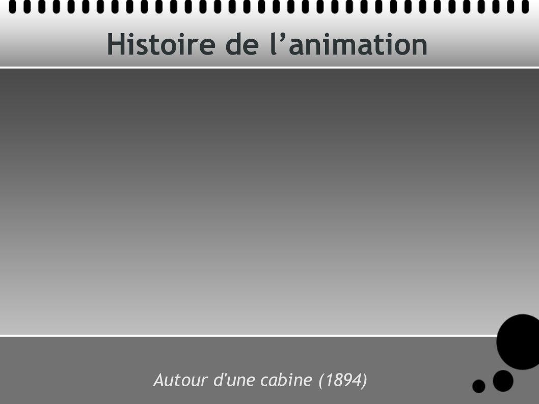 Histoire de lanimation Autour d'une cabine (1894)