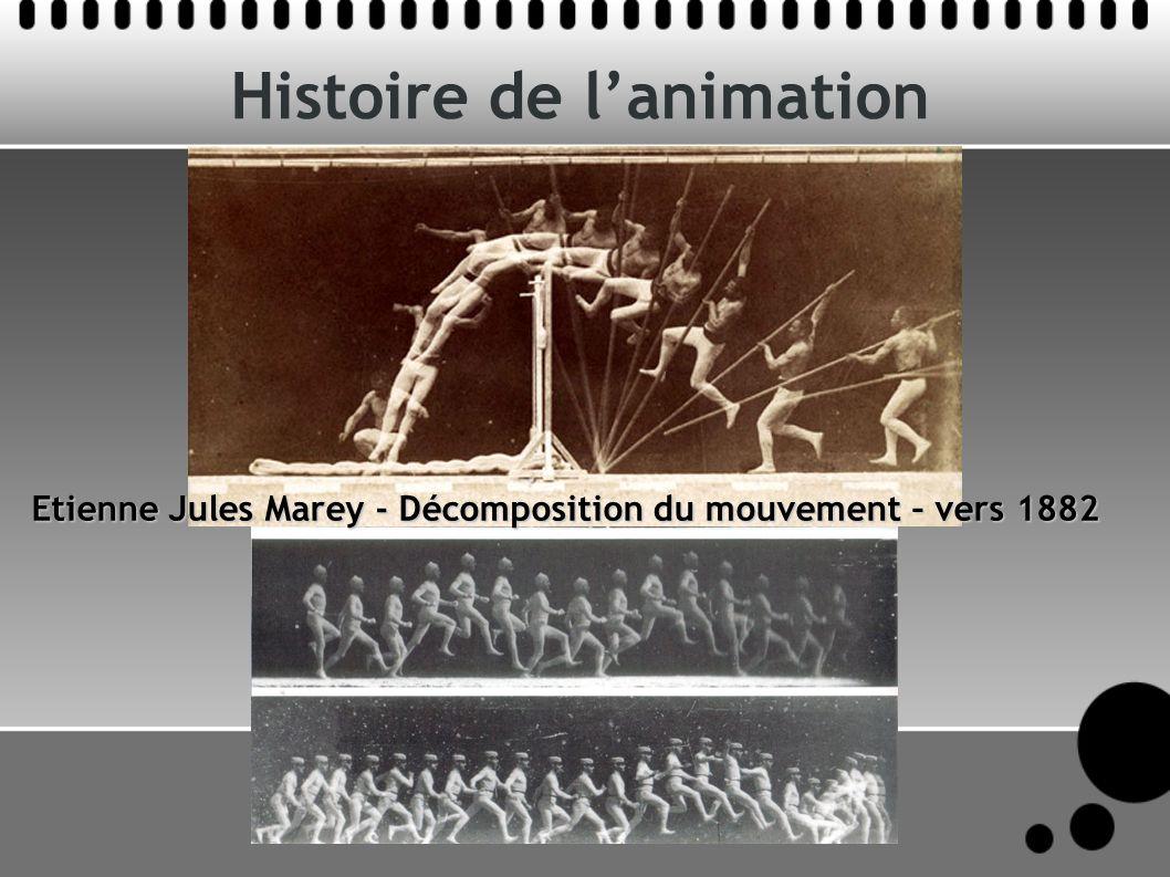 Histoire de lanimation Etienne Jules Marey - Décomposition du mouvement – vers 1882