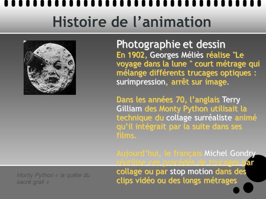 Histoire de lanimation Photographie et dessin En 1902, Georges Méliès réalise