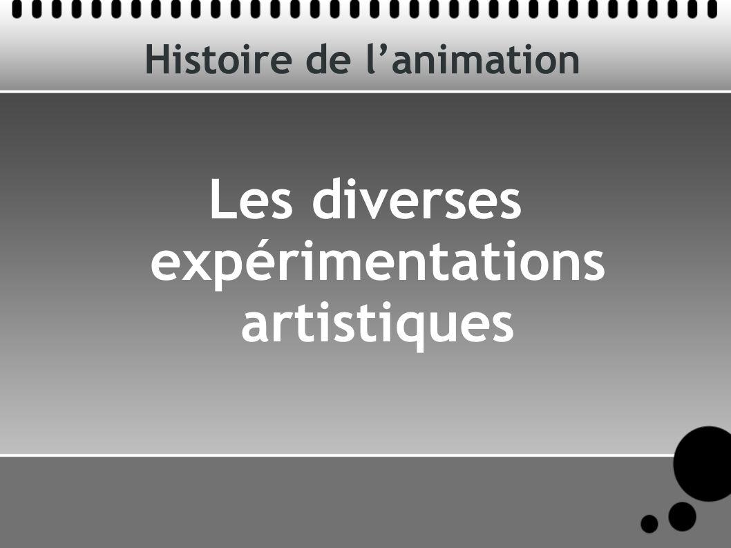 Histoire de lanimation Les diverses expérimentations artistiques