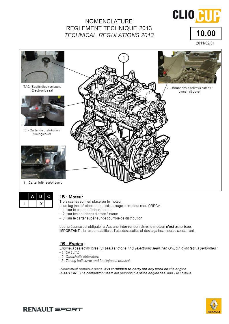 59.30 ABC 1X 2X NOMENCLATURE REGLEMENT TECHNIQUE 2013 TECHNICAL REGULATIONS 2013 2011/02/01