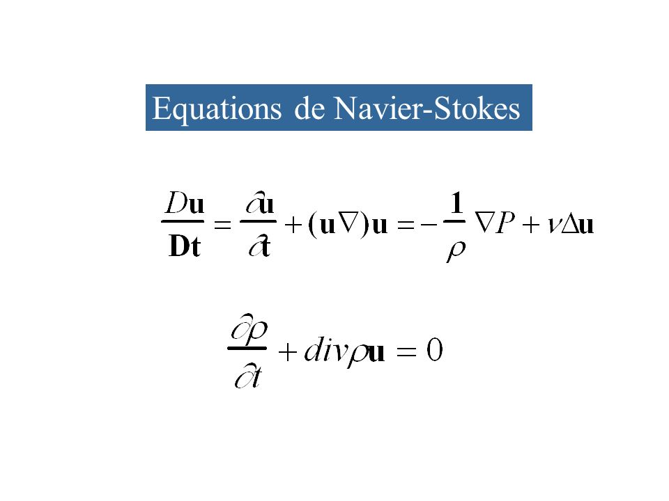 Equations de Navier-Stokes