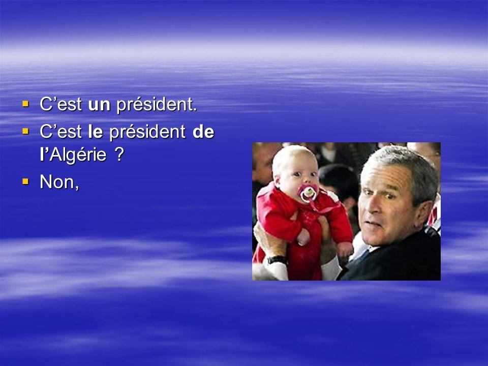 Cest un président.Cest un président. Cest le président de lAlgérie .