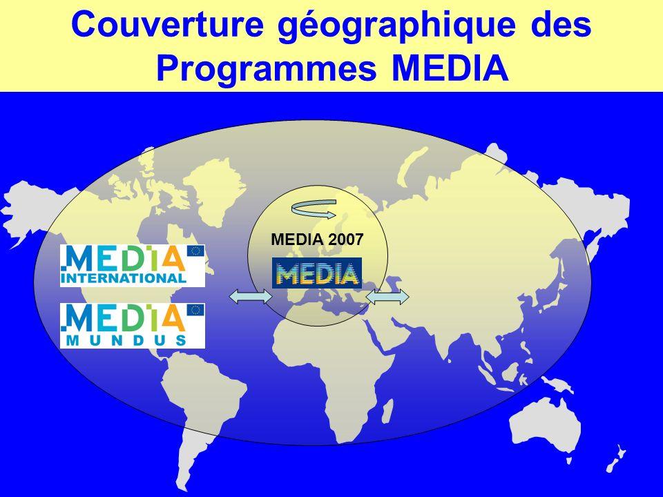 Couverture géographique des Programmes MEDIA MEDIA 2007
