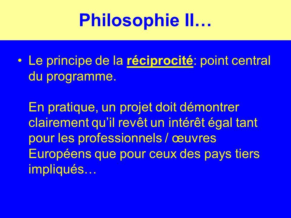 Philosophie II… Le principe de la réciprocité: point central du programme.