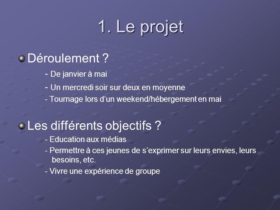1. Le projet Déroulement .
