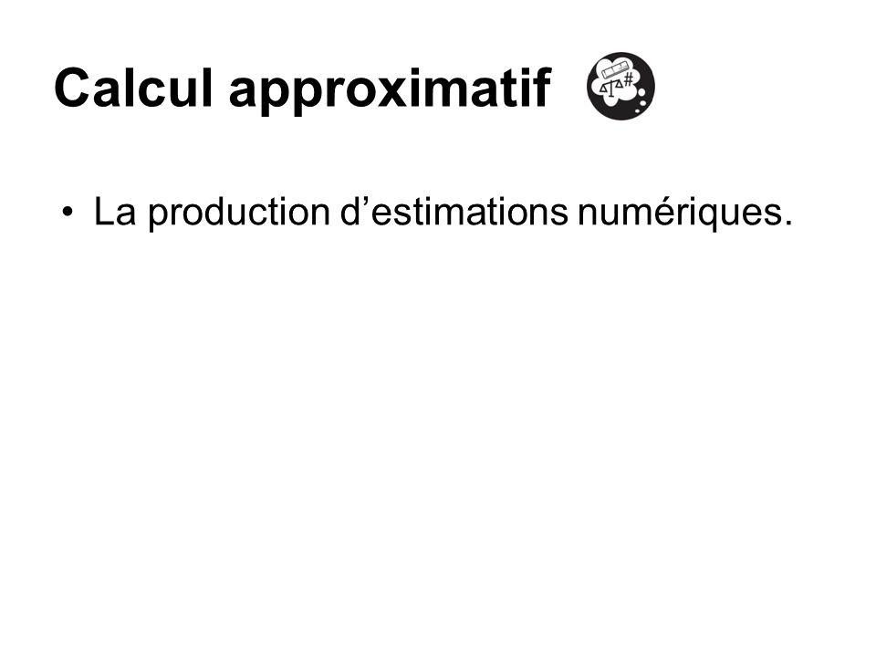 Calcul approximatif La production destimations numériques.
