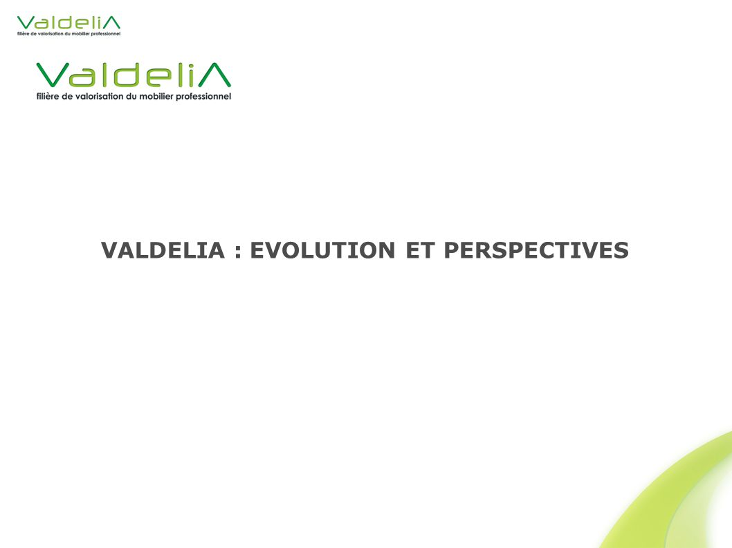VALDELIA : EVOLUTION ET PERSPECTIVES