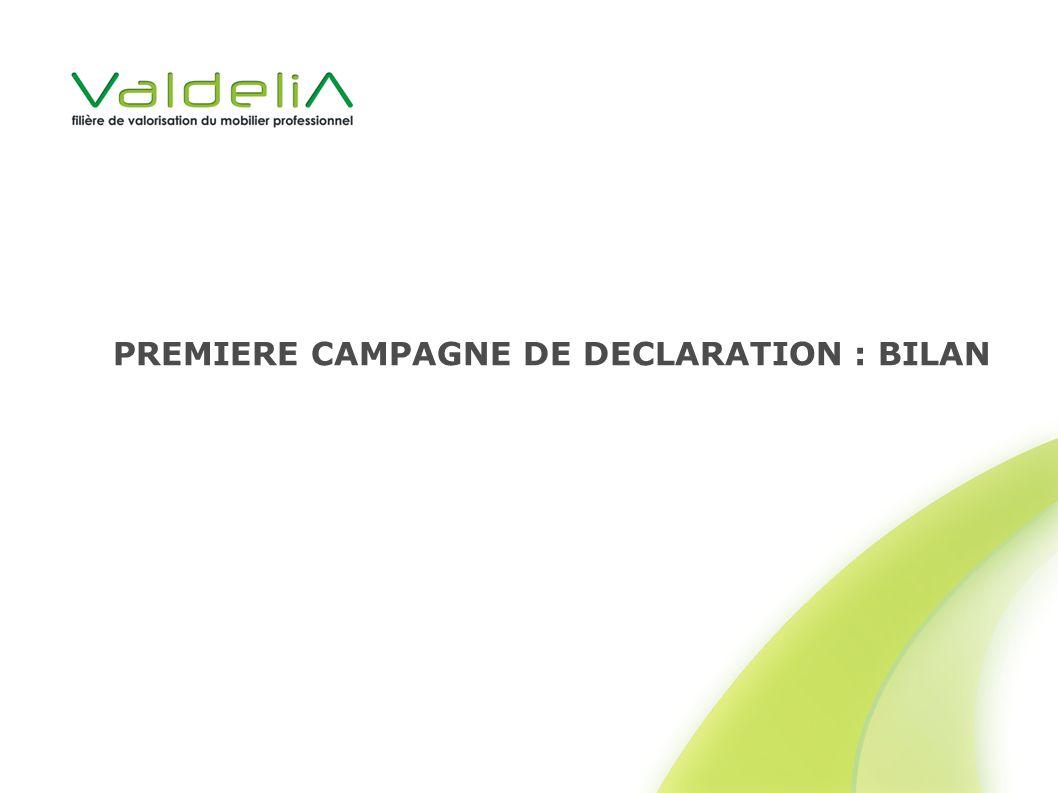 PREMIERE CAMPAGNE DE DECLARATION : BILAN