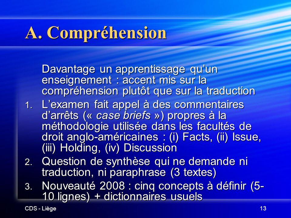 CDS - Liège13 A.