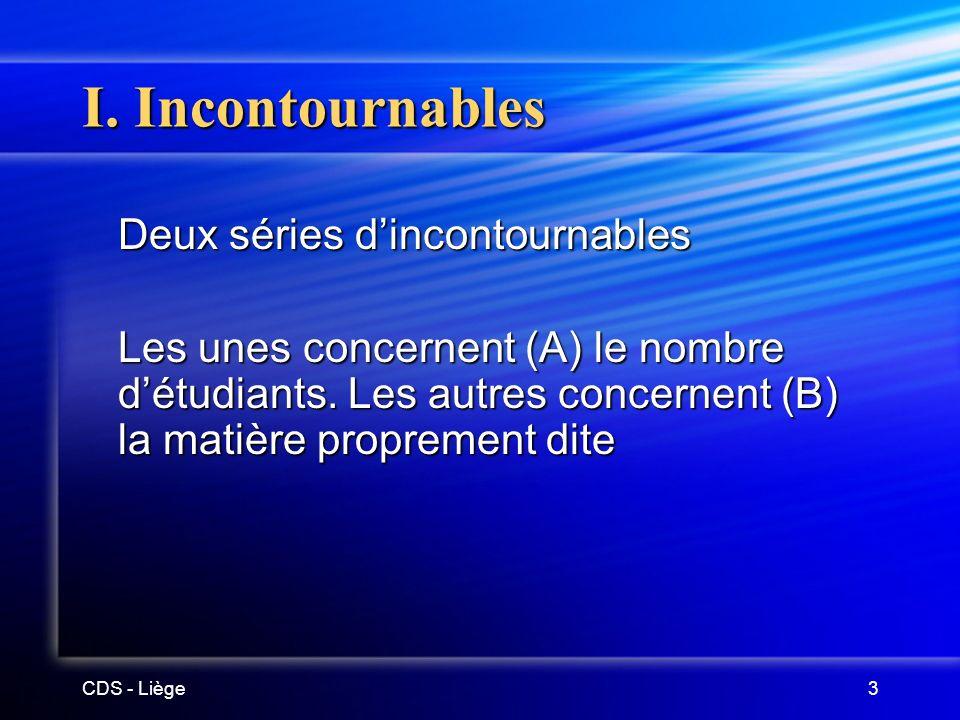 CDS - Liège3 I.