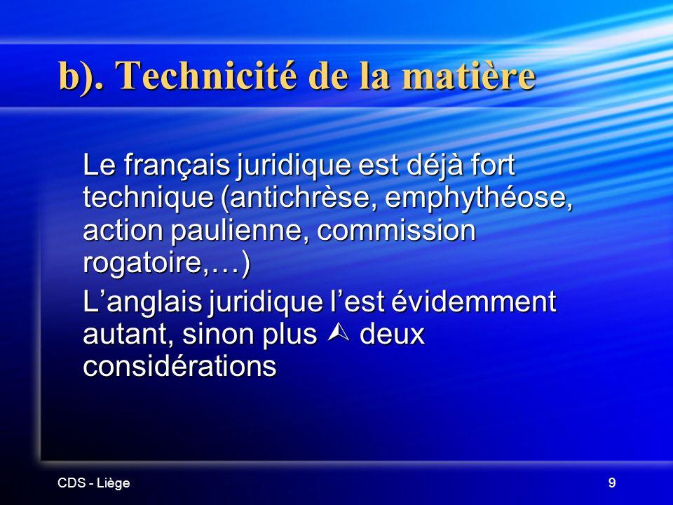CDS - Liège9 b).