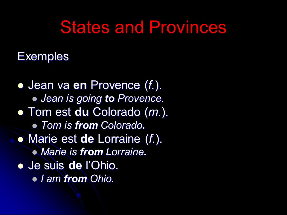 Cities To express in or to a city, use the preposition à.