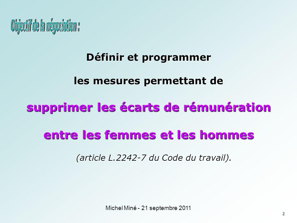 Définir et programmer les mesures permettant de supprimer les écarts de rémunération entre les femmes et les hommes (article L.2242-7 du Code du travail).