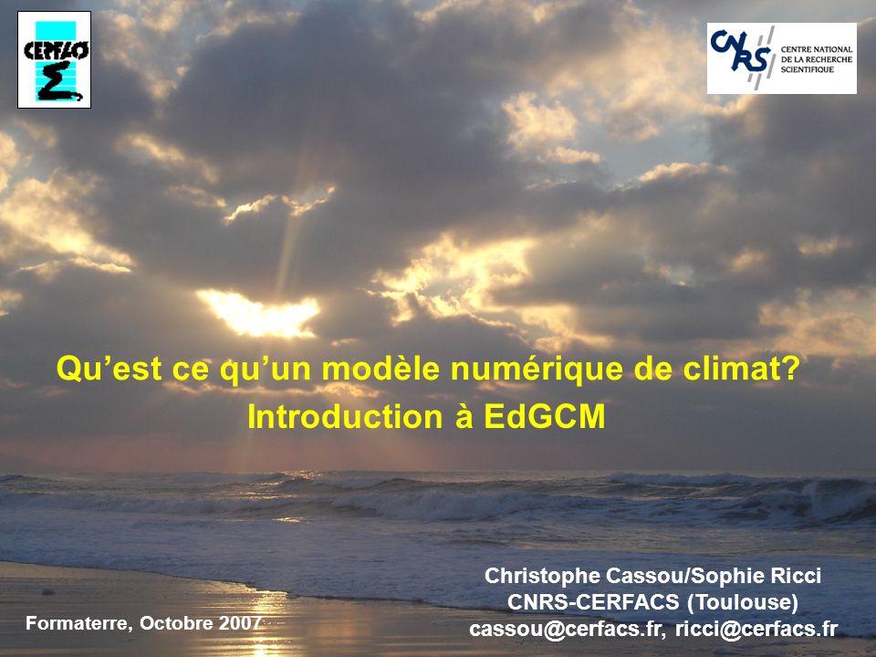 Quest ce quun modèle numérique de climat.