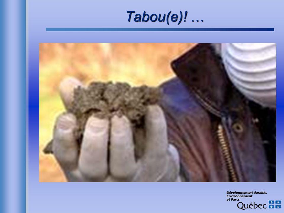Tabou(e)! …