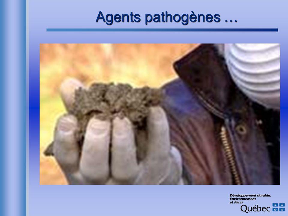 Agents pathogènes …