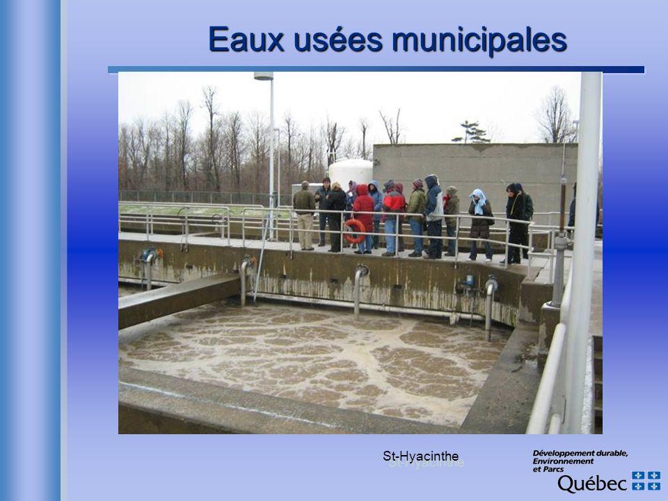 Eaux usées municipales St-Hyacinthe