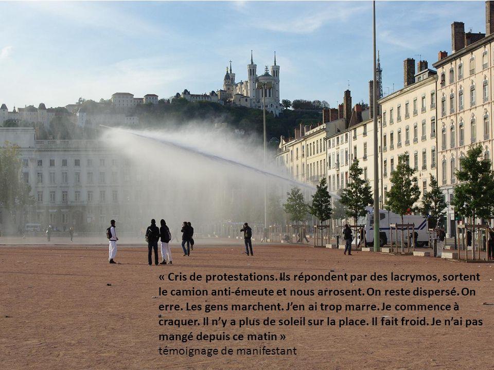 « Cris de protestations.