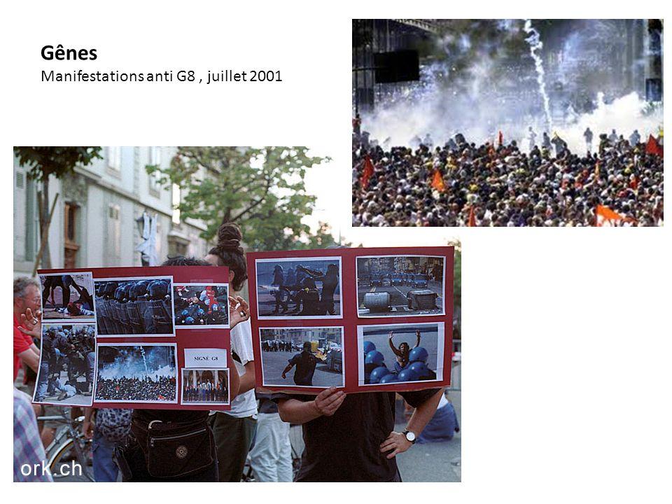 Gênes Manifestations anti G8, juillet 2001