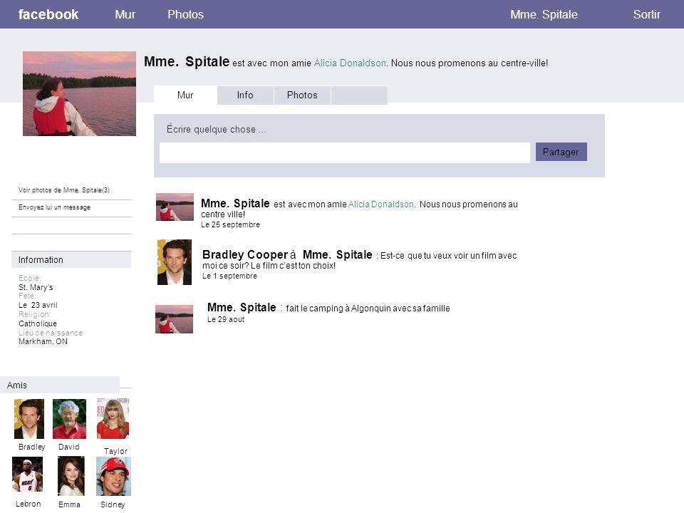 Mes passetemps facebook Mme.Spitale est avec mon amie Alicia Donaldson.