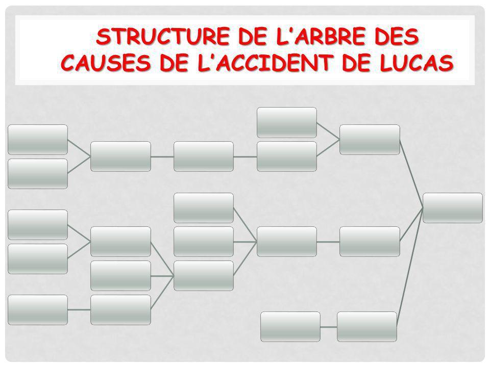 STRUCTURE DE LARBRE DES CAUSES DE LACCIDENT DE LUCAS